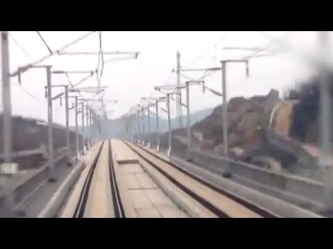Take a ride on China's Shanghai-Kunming high-speed railway