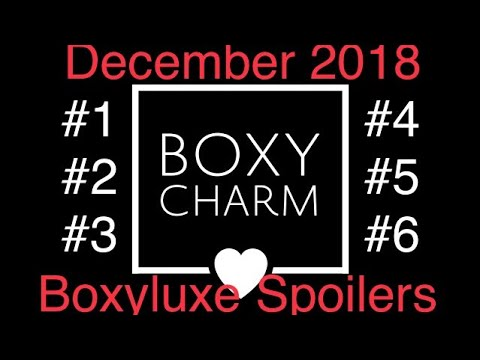 December 2018 Boxycharm Boxyluxe Spoilers #1 #2 #3 #4 #5 #6