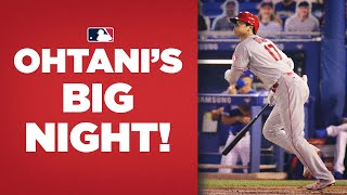 Shohei Ohtani RAKES, hits homer and 3-run double against Blue Jays!