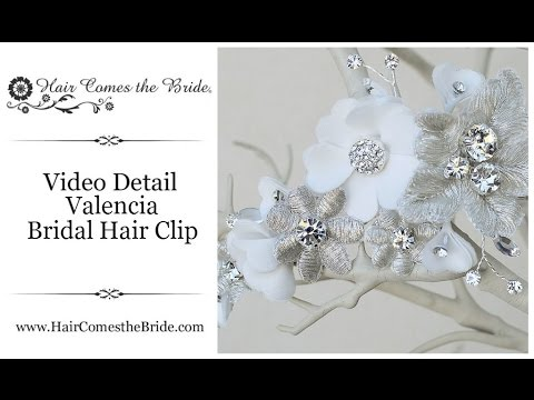 Romantic Bridal Flower Hair Clip by Hair Comes the Bride - Valencia