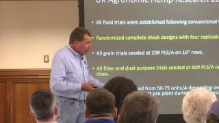 David Williams UK Agronomist on Hemp Research in Kentucky 2015-16