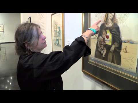 "Erika Greenberg-Schneider tours ""Dali Printmaker"" Exhibit at The Dali Museum"