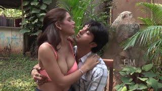 indian girl romance in public garden