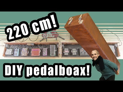 How to make a big DIY effects pedal board case for guitar and bass FX!