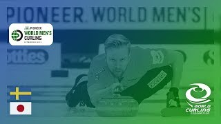 Sweden v Japan - Semi-final - Pioneer Hi-Bred World Men's Curling Championship 2019