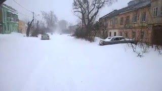 Зима в Одессе  на Молдованке 20.01.2016