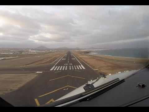 Approach & landing runway 03 Arrecife Lanzarote airport (ACE GCRR)