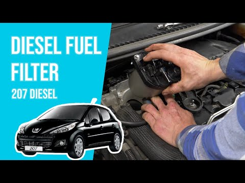 How to replace the diesel fuel filter PEUGEOT 207 1.4 HDI ⛽