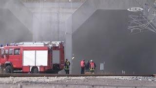 Feuerwehreinsatz Brand Tunnel neue ICE-Strecke München Berlin Silvio Suchy Mike Flügel DB Netz AG