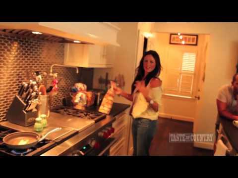 Sara Evans Cooks An Eggel for Taste of Country