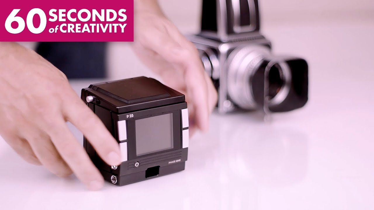 PHASE ONE P25 Medium Format Digital Back - 60 SECONDS of CREATIVITY