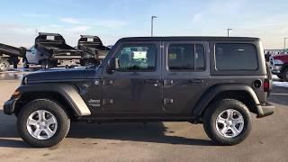 THE ALL NEW 2018 JEEP WRANGLER UNLIMITED JL SPORT WALK AROUND WRANGLER JL GRANITE CRYSTAL 4WD