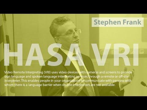 HASA VRI (Stephen Frank) - TechBreakfast: Baltimore: 12-23-2013