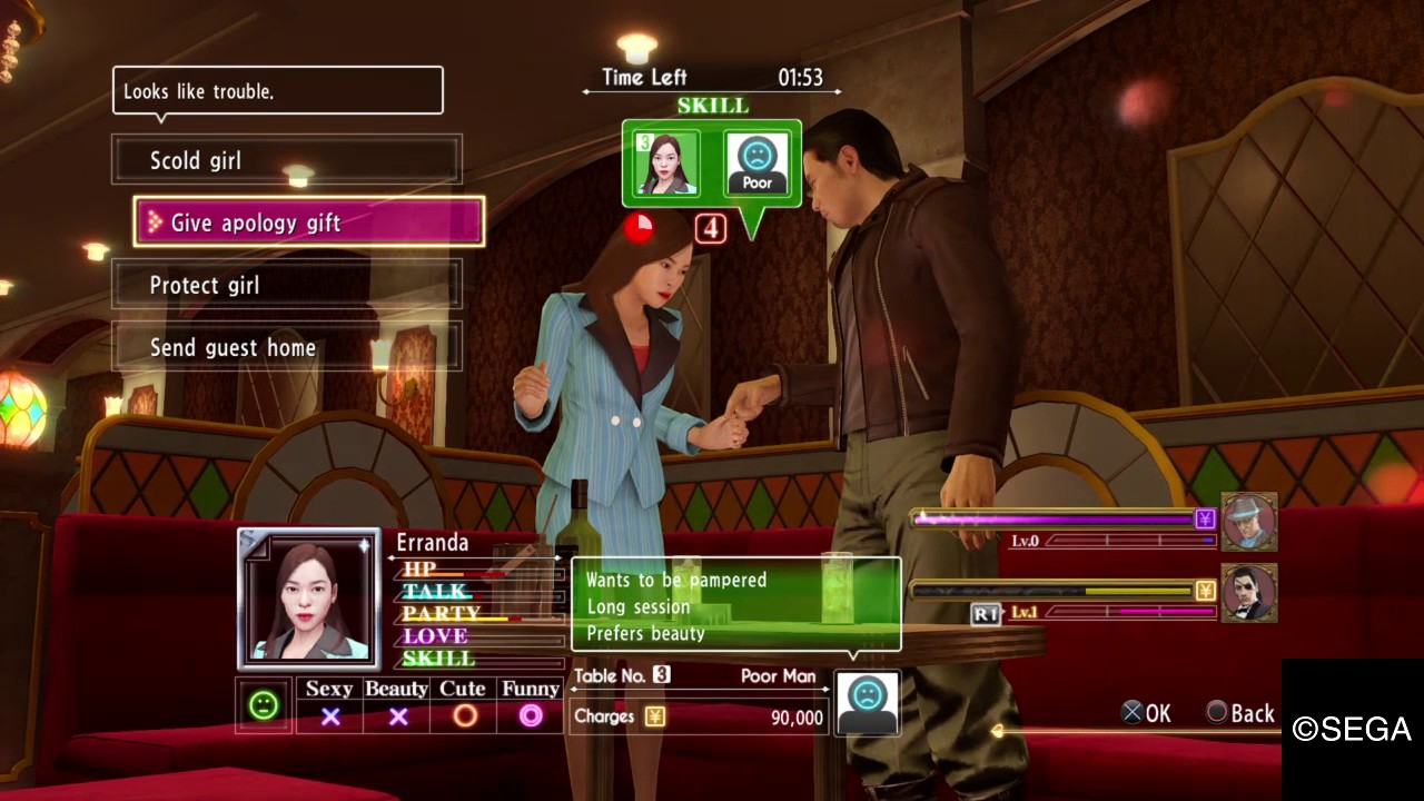 yakuza 0 club hostess