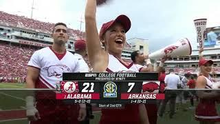 Alabama @ Arkansas, 2018 (in under 37 minutes)