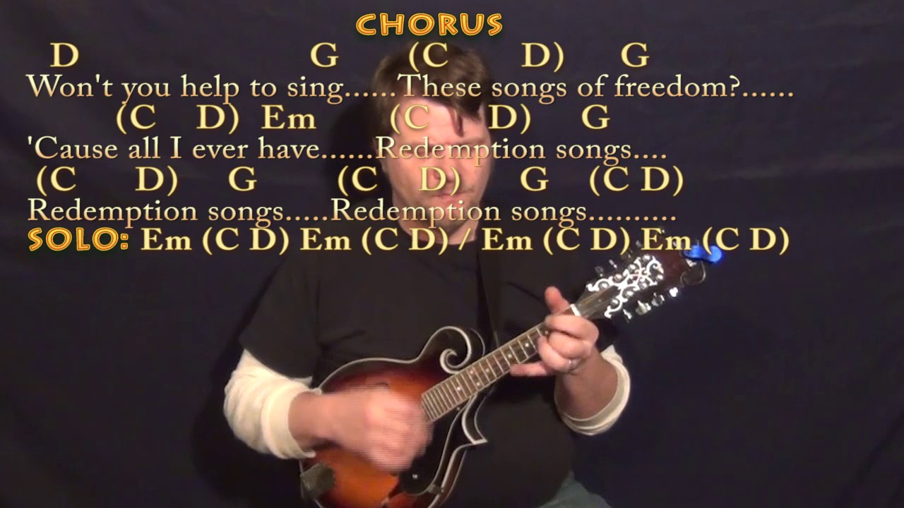 Redemption Song Bob Marley Mandolin Cover Lesson With Chords