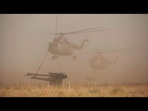 Гаубицы Д-30 впервые перебрасывают вертолетами Ми-8: кадры учений «Центр 2019»