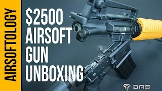 Unboxing the $2500 DAS M4A1 airsoft gun! | Airsoftology