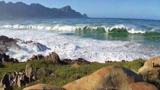 Big ocean waves crashing and stormy scenes