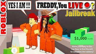 More Jailbreak Fun with FreddyGoesBoom on Freddy's Live Stream