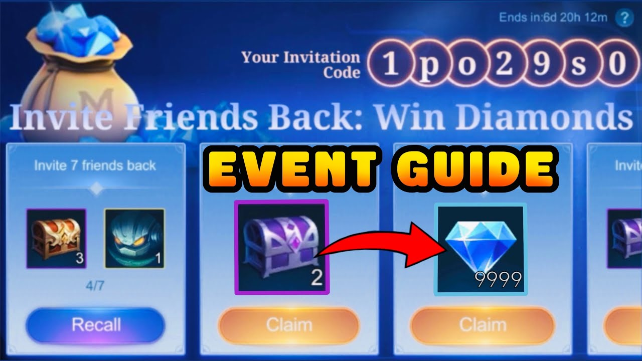 How to Invite Friends Back Win 9999x Diamonds & Permanent Skin (Guide) - Mobile Legends Bang Bang
