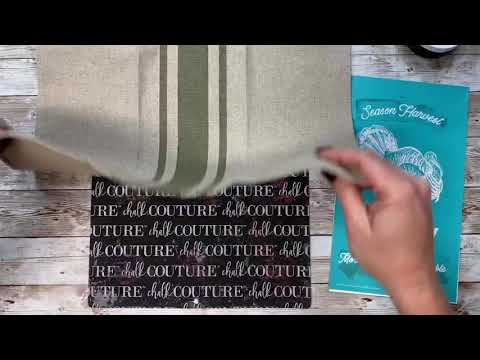 CHALK COUTURE-Ink on a towel! DIY HOME DECOR!