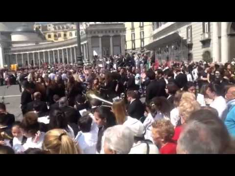 Napoli Piazza Plebiscito Festa della Repubblica 2 giugno 2015
