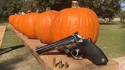 357 MAGNUM VS 45 ACP VS 9MM VS PUMPKIN