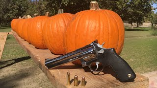 357 MAGNUM VS 45 ACP VS 9MM VS PUMPKIN...