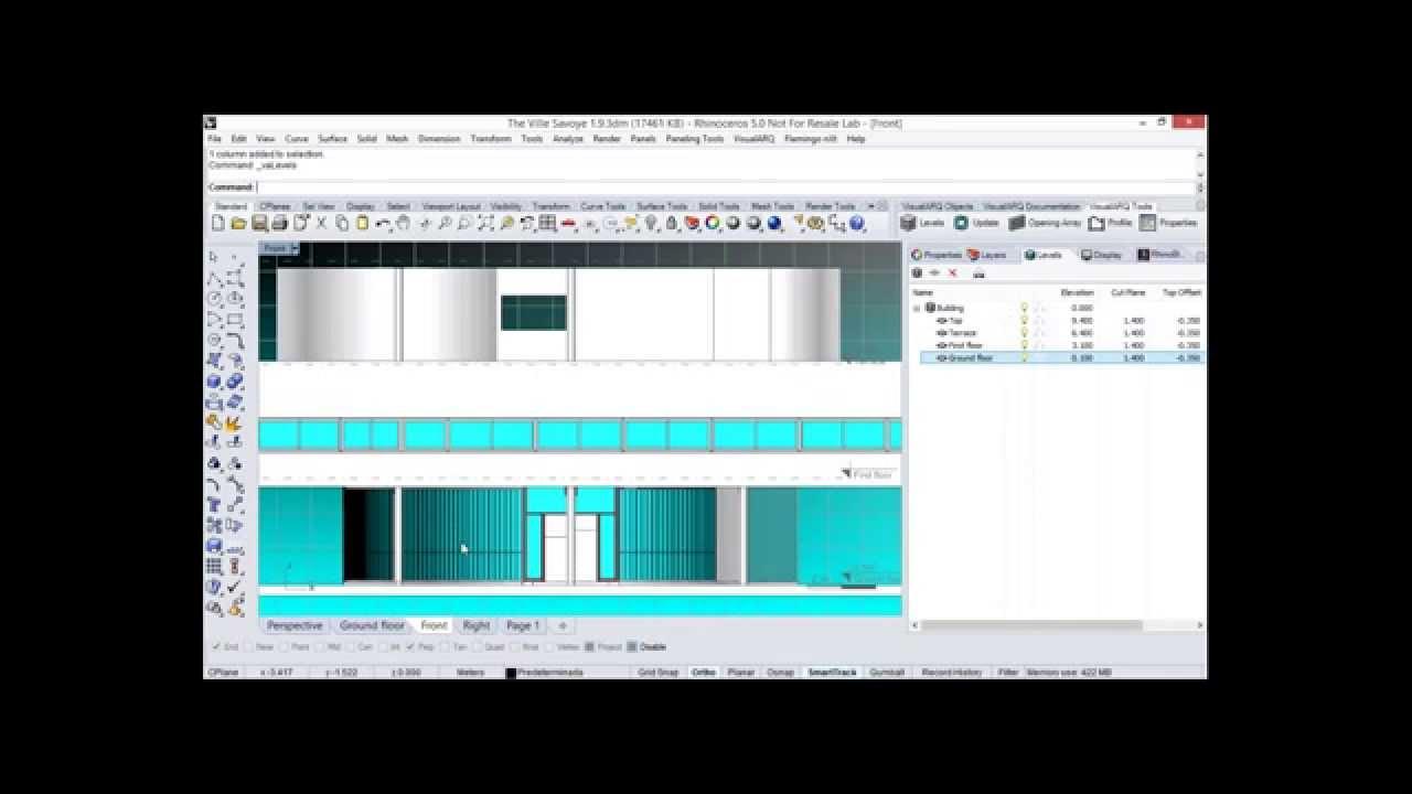 VisualARQ 1 9, BIM architectural software for Rhino