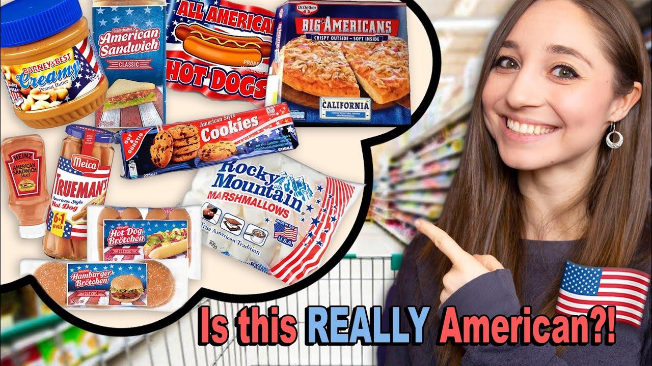 """Buying """"AMERICAN"""" GROCERIES in Germany + Taste Test w/ My Brother!   German Girl in America"""