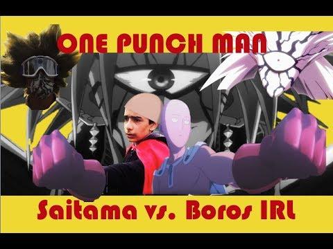 one punch man in real life saitama v boros 500 1000 subs special