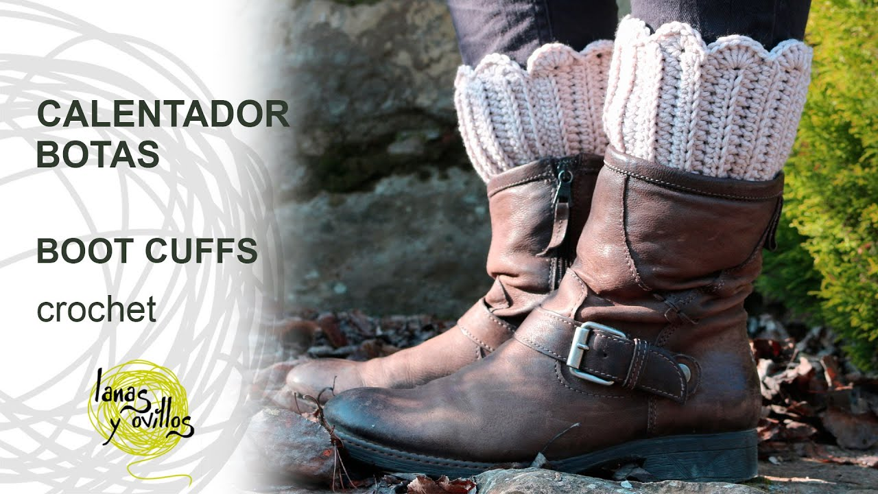 Tutorial Calentadores Botas Crochet o Ganchillo - YouTube