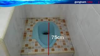 pas ukuran! kamar mandi kloset jongkok, Pemasangan Kloset jongkok tidak tinggi ataupun rendah!