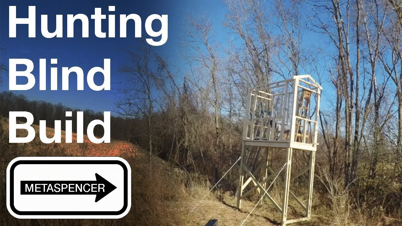 Tower Hunting Blind Step By Step Build Part 1 Youtube