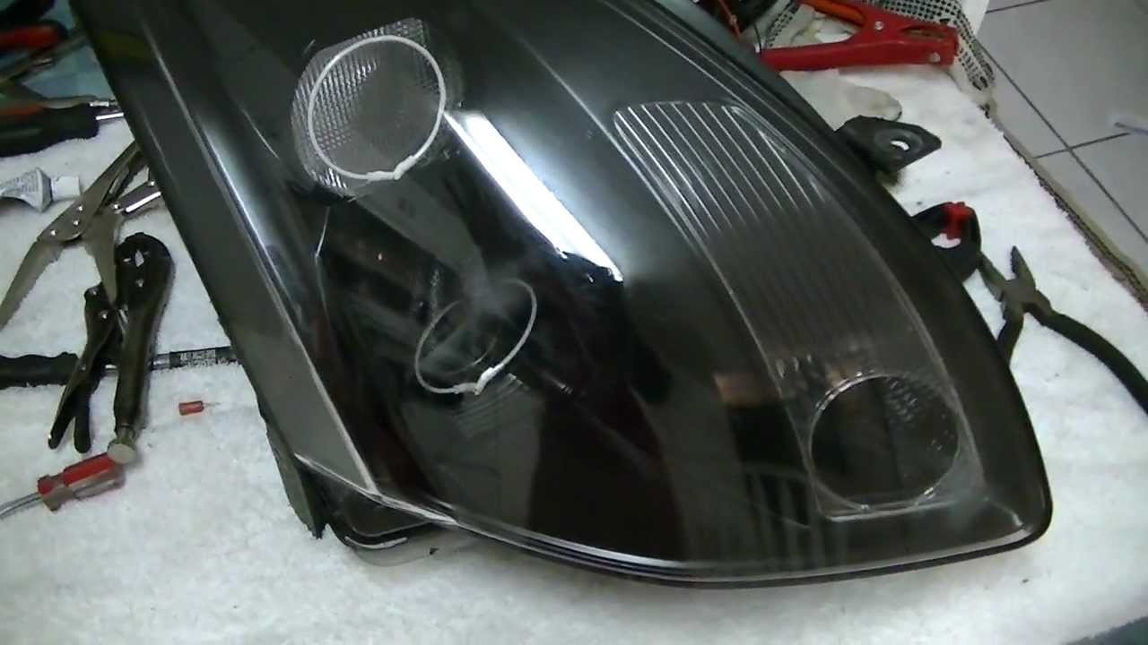 04 nissan maxima headlight mod with ccfl halo rings pt3 youtube vanachro Images