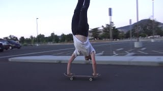 Skateboarding Handstand Flip Out! & More!