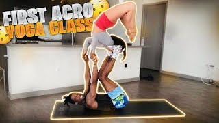 MY FIRST ACRO YOGA CLASS (IT WAS INTENSE) Video