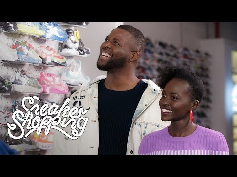 """Us"" Stars Lupita Nyong&39;o And Winston Duke Go Sneaker Shopping With Complex"