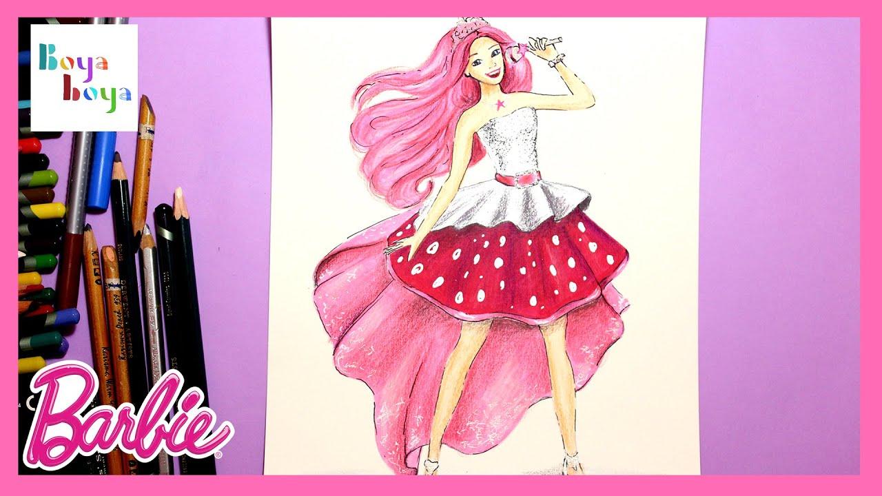 Rockstar Barbie Prenses Azra Nasil Cizilir Cizim Teknikleri