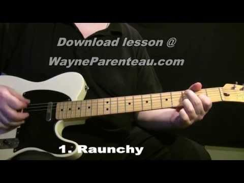 Raunchy The Ventures - Guitar Lesson + Backing Track