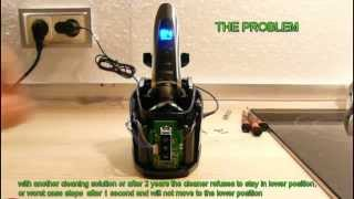 philips norelco sensotouch jet clean station mod repair fault rq 1095