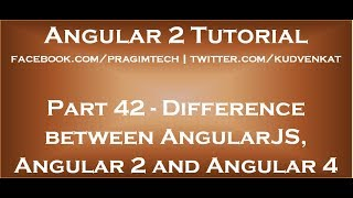 Difference between AngularJS, Angular 2 and Angular 4