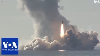 Russian Ministry of Defense released a VIDEO of nuclear submarine test-fired of 4 ballistic missiles