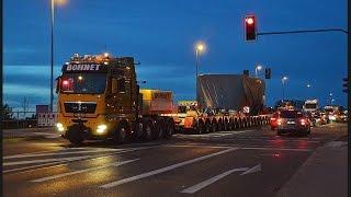 Bohnet Schwertransporte - 370t Presseteile im Convoi nach Aken