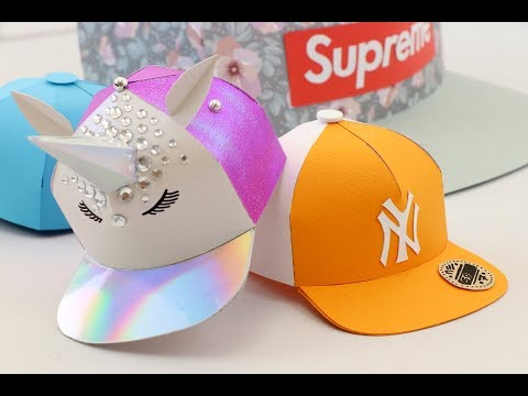 How to make a Miniature Paper Snapback Hat | EASY Template