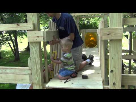 Building Our Custom Backyard Playground With Kids Help