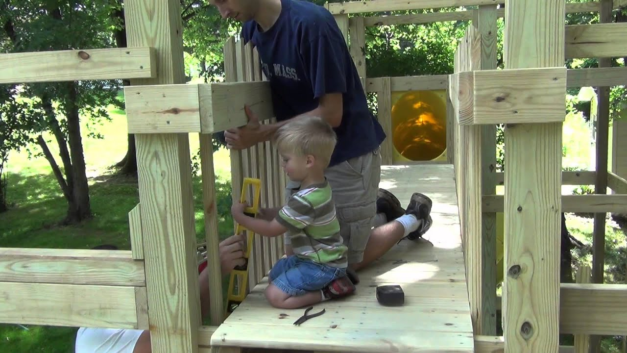 building our custom backyard playground with kids help youtube