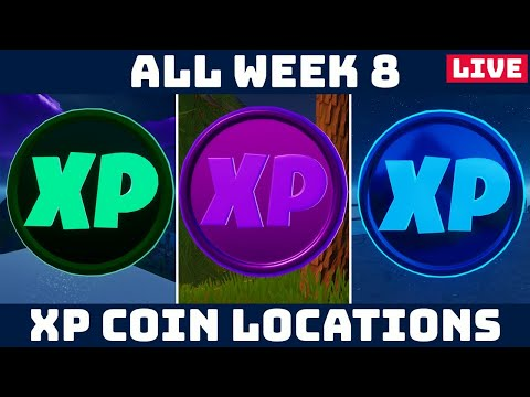 !HELP w/ WEEK 8 XP COINS  Gold Coins TODAY! CARS ADDED! [Fortnite Weekly Challenges]