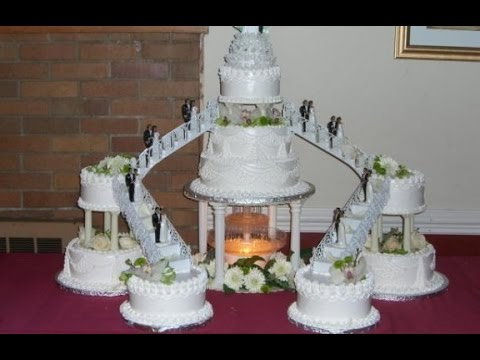pictures of wedding cakes with fountains and stairs shaped wedding cakes with 18474